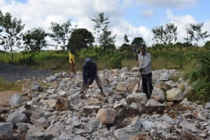The Water Project: Mutulani Secondary School -  Rocks Gathered By School Parents