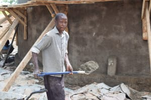 The Water Project: Mutulani Secondary School -  Shoveling Cement