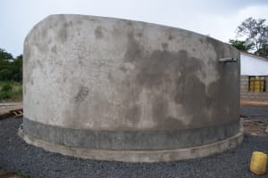 The Water Project: Mutulani Secondary School -  Tank Cement Complete
