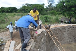 The Water Project: Mutulani Secondary School -  Working On The Walls