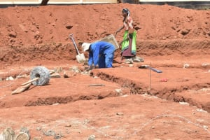 The Water Project: St. Paul Waita Secondary School -  Digging Foundation