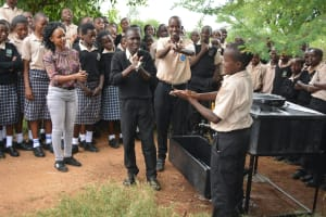The Water Project: St. Paul Waita Secondary School -  Handwashing