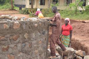 The Water Project: St. Paul Waita Secondary School -  Masons Work On The Tank