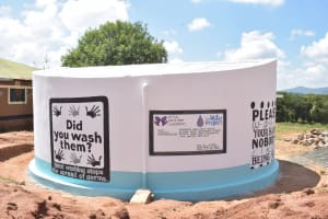 The Water Project: St. Paul Waita Secondary School -  Painted Tank