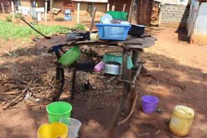 The Water Project: Shikoye Community, Kwa Witinga Spring -  Dishrack
