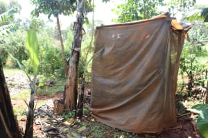 The Water Project: Shikoye Community, Kwa Witinga Spring -  Latrine
