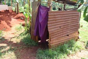 The Water Project: Shikoye Community, Kwa Witinga Spring -  Simple Pit Latrine