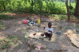 The Water Project: Shisasari Itumbu Community, Mathias Juma Spring -  A Child Playing