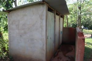 The Water Project: Shisasari Itumbu Community, Mathias Juma Spring -  Latrine