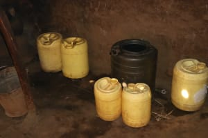 The Water Project: Shisasari Itumbu Community, Mathias Juma Spring -  Water Storage Containers