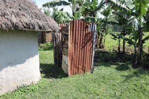 The Water Project: Malimali Community, Onyango Spring -  Bathing Shelter