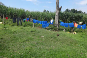 The Water Project: Malimali Community, Onyango Spring -  Clothes Drying On Fence