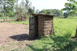 The Water Project: Malimali Community, Onyango Spring -  Latrine
