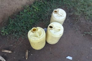 The Water Project: Malimali Community, Onyango Spring -  Water Storage Containers