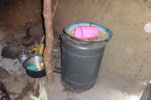 The Water Project: Malimali Community, Onyango Spring -  Water Storage Drum