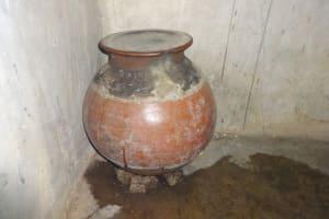 The Water Project: Malimali Community, Onyango Spring -  Water Storage Pot