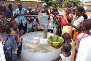 The Water Project: Lungi, New London, #10 Dankama Street -  Community Members Celebrating Safe Drinking Water