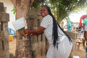 The Water Project: Lungi, New London, #10 Dankama Street -  Participant Demonstrating Handwashing