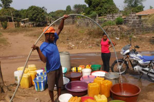 The Water Project: Lungi, New London, #10 Dankama Street -  Yield Test