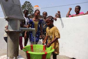 The Water Project: Lungi, New London, #10 Dankama Street -  Kids Celebrating And Splashing Clean Water