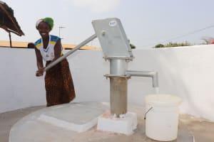 The Water Project: Lungi, New London, #10 Dankama Street -  Woman Collecting Water