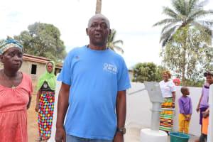 The Water Project: Lungi, Mahera, #5 MacAuley Street -  Chairperson Mr Bankole Davis Sesay Making A Statement