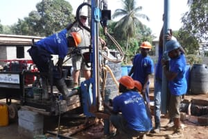 The Water Project: Lungi, Mahera, #5 MacAuley Street -  Drilling