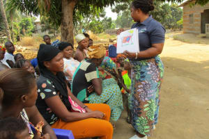 The Water Project: Lungi, Mahera, #5 MacAuley Street -  Hygiene Facilitator Teaching About Good Hygiene Practices