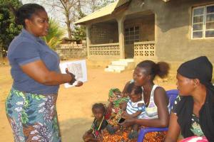 The Water Project: Lungi, Mahera, #5 MacAuley Street -  Hygiene Facilitator Teaching About Importance Of Toilets