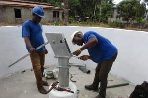 The Water Project: Lungi, Mahera, #5 MacAuley Street -  Pump Installation