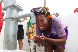 The Water Project: Lungi, Mahera, #5 MacAuley Street -  Happy Drinking Clean And Safe Water