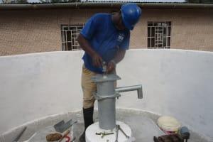 The Water Project: Lungi, Tardi, Khodeza Community School -  Pump Installation