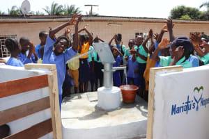 The Water Project: Lungi, Tardi, Khodeza Community School -  Students Celebrating