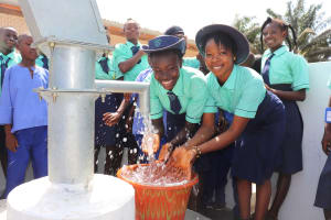 The Water Project: Lungi, Tardi, Khodeza Community School -  Students Splashing Water