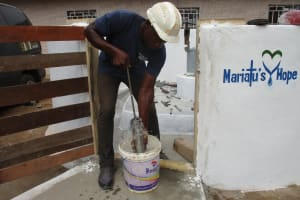 The Water Project: Lungi, Tardi, Khodeza Community School -  Testing Cylinder