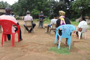 The Water Project: Lungi, Kambia, #6 Bangura St. -  Hygiene Facilitator Teaching About Balanced Diet