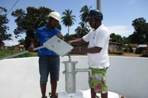 The Water Project: Lungi, Kambia, #6 Bangura St. -  Pump Installation