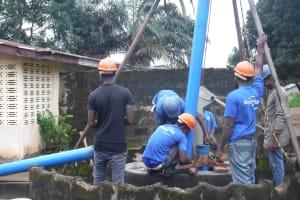The Water Project: Lungi, Kambia, #6 Bangura St. -  Drilling