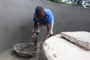 The Water Project: Lungi, Kambia, #6 Bangura St. -  Pad Construction