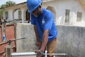 The Water Project: Lungi, New London, #10 Dankama Street -  Pump Installation