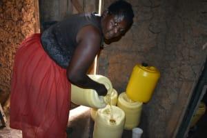 The Water Project: Mundoli Community, Pamela Atieno Spring -  Adding To Water Storage