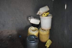 The Water Project: Mundoli Community, Pamela Atieno Spring -  Water Storage Containers