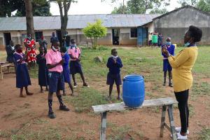 The Water Project: Kapkoi Primary School -  Handwashing Demonstration