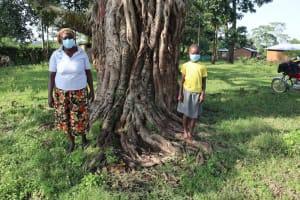 The Water Project: Nguvuli Community, Busuku Spring -  Communtiy Health Volunteer Rosemary Masika And Jacklyne