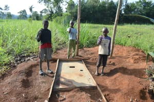 The Water Project: Indulusia Community, Yakobo Spring -  Thumbs Up For Sanitation Platforms