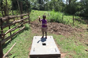 The Water Project: Makale Community, Luyingo Spring -  Complete Sanitation Platforms