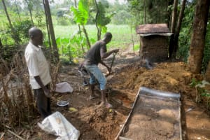 The Water Project: Makale Community, Luyingo Spring -  Sanplat Construction