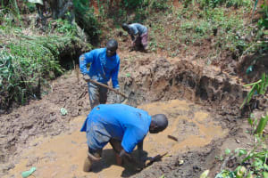 The Water Project: Indulusia Community, Yakobo Spring -  Site Excavation