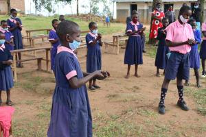 The Water Project: Kapkoi Primary School -  Handwashing Practice