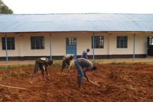 The Water Project: Kinu Friends Secondary School -  Excavation Of Rain Tank Site